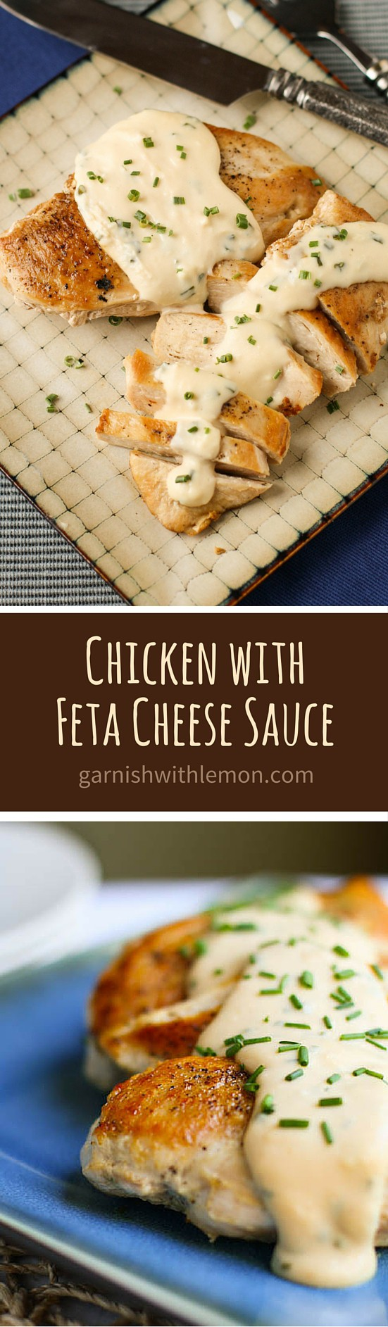 Do not miss our family's favorite easy dinner recipe - Chicken with Feta Cheese Sauce!