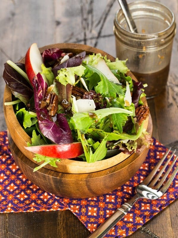 Switch up your greens with the seasons! This simple Fall Salad with Pears and Candied Pecans is a delicious way to welcome autumn.