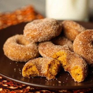 Pumpkin Spice Mini-Donuts