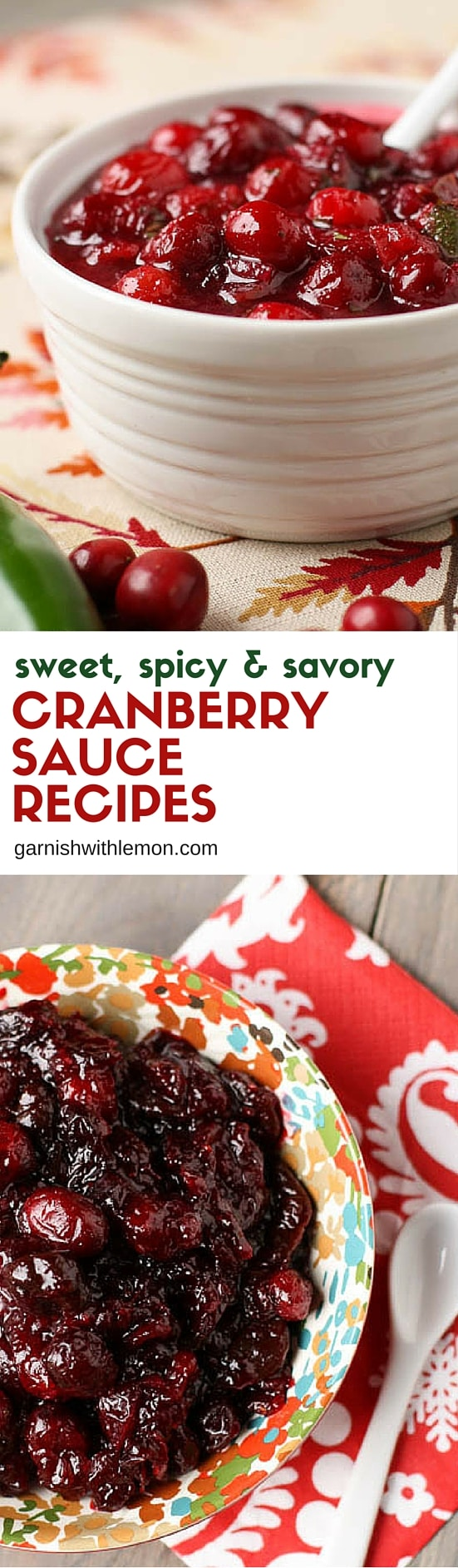Can't decide between spicy or sweet? You don't have to with these two cranberry relish recipes. One is smooth but spicy and the other is savory but sweet.