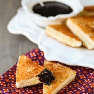 Grilled Cheese Sandwiches with Balsamic Glaze