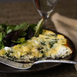 Mushroom and Goat Cheese Frittata feature