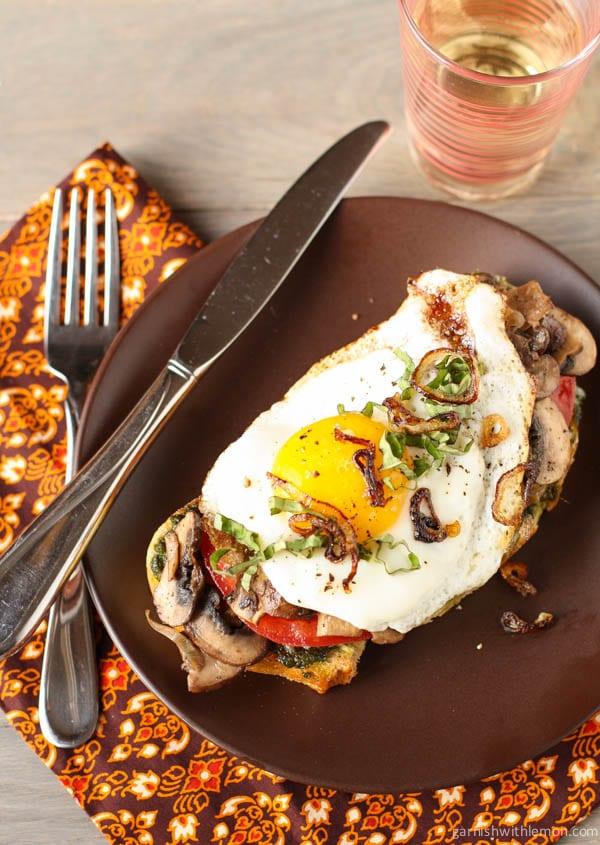Fried Egg and Mushroom Sandwiches