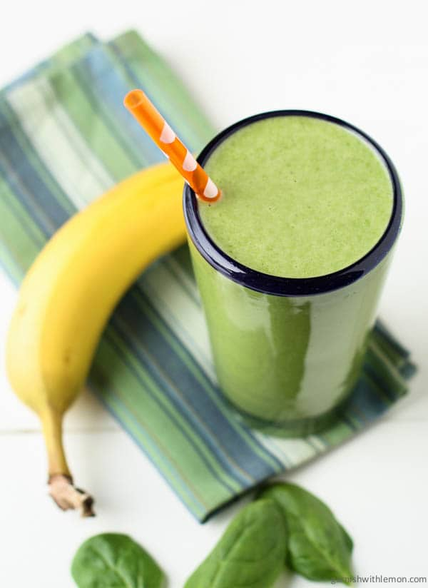 Start your day on the right foot with a healthy, filling breakfast. This Spinach Banana Protein Smoothie recipe will keep you going until lunch!