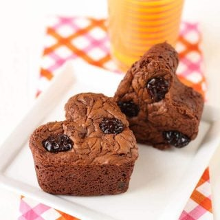 Chocolate Muffins with Dried Cherries Feature