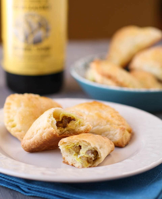 Curried Pork Empanadas - Garnish with Lemon