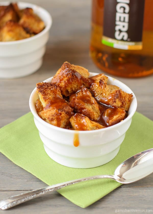 Bread Pudding with Salted Caramel Whiskey Sauce