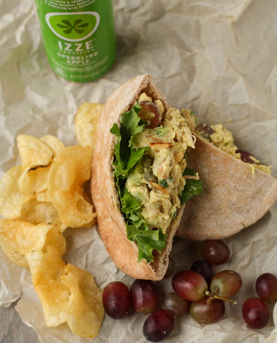 Curried Chicken Salad with Grapes and Slivered Almonds- Garnish with ...