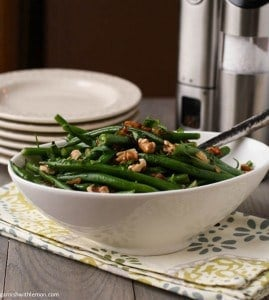 Green Beans with Warm Bacon Vinaigrette
