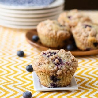 Lemon Blueberry Poppyseed Muffins feature