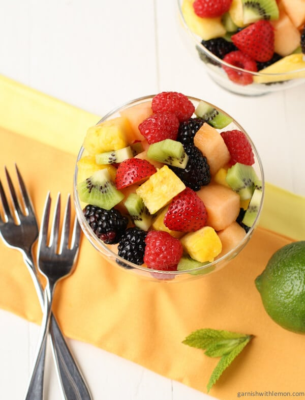 Have you ever been asked to bring fruit to your next potluck? Try a twist on the traditional with this Fruit Salad with Lime Mint Dressing. It has an unexpected citrusy kick that keeps people coming back for more!