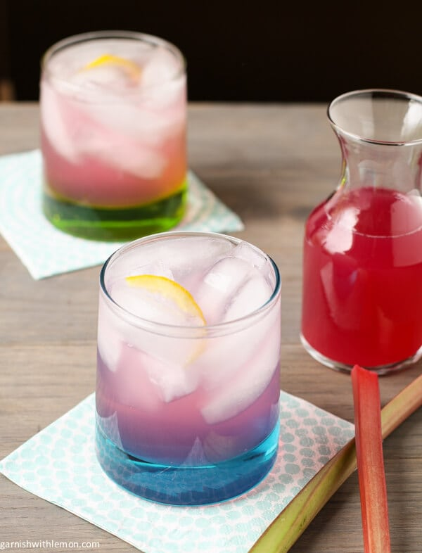 Rhubarb Syrup - Garnish with Lemon