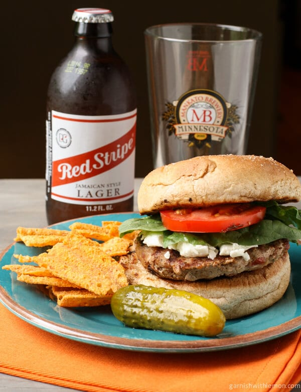 Turkey Burger with Sun-dried Tomatoes and Goat Cheese