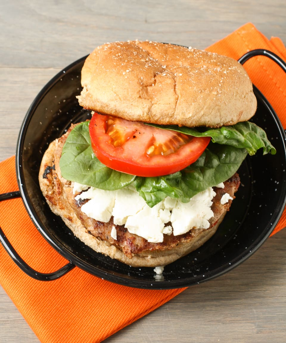 Turkey Burgers with Sun-dried Tomatoes and Goat Cheese - Garnish with ...