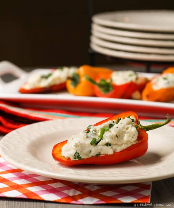 Grilled Peppers with Goat Cheese