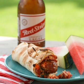 Grilled Italian Sausage Wraps