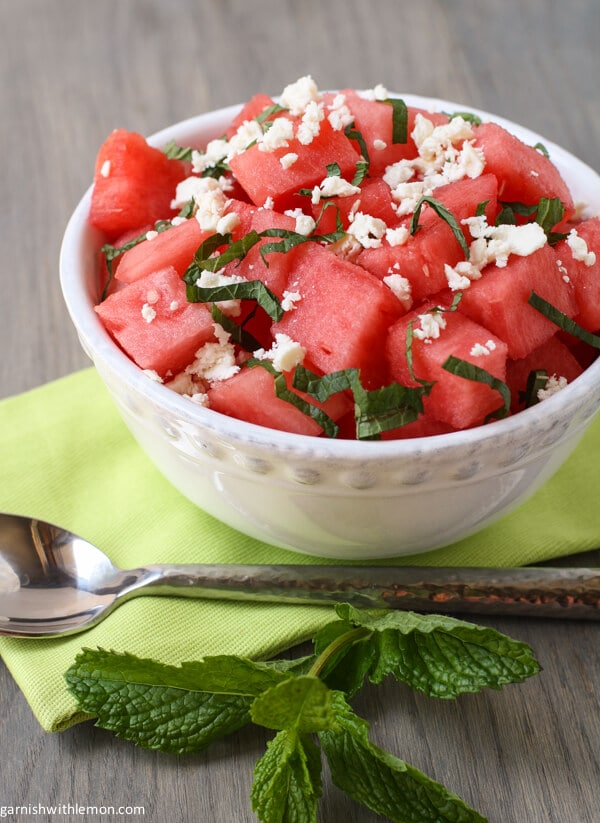 vegetable watermelon and feta salad tomato watermelon salad with feta ...