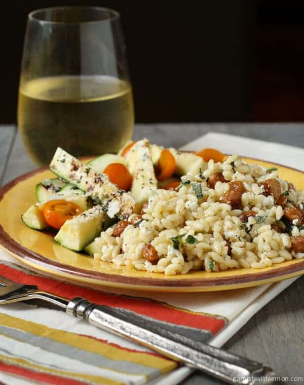 Orzo with Roasted Garbanzo Beans