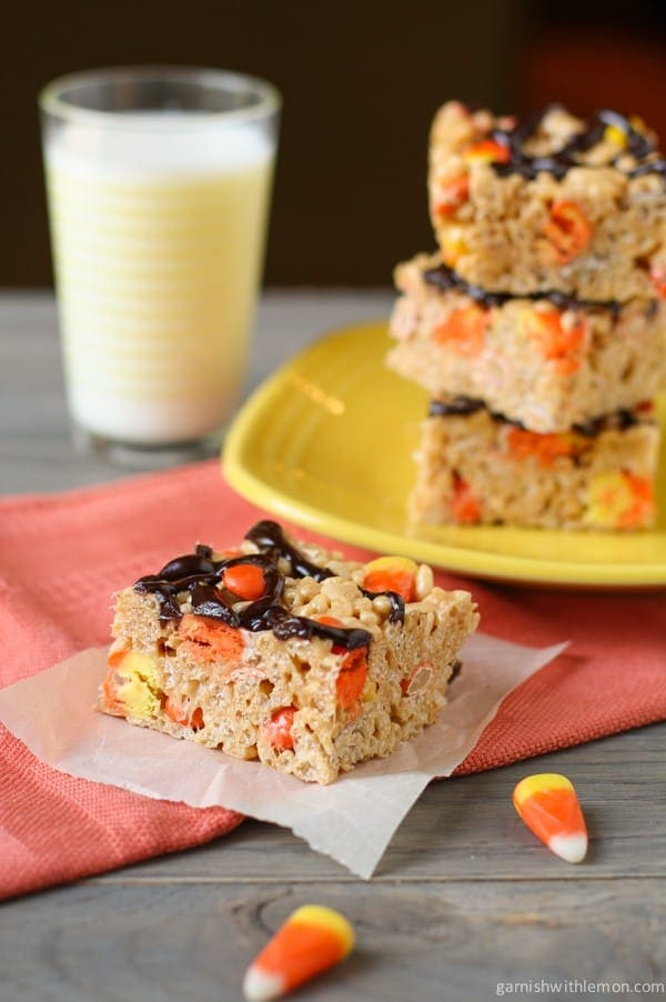 Peanut Butter Rice Krispie Treats With Reese's Pieces Recipe ...