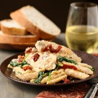 Penne with Chicken, Sun-Dried Tomatoes and Spinach (2 of 2)