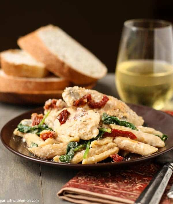 Penne with Chicken,Sun-dried Tomatoes, and Spinach (And a Giveaway ...