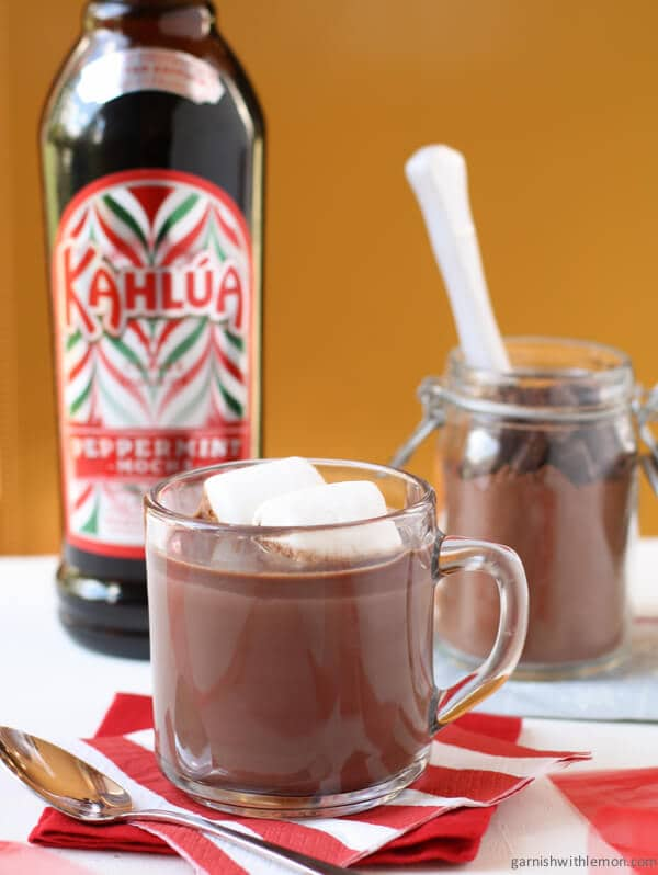 Kahlúa Peppermint Cocoa with Homemade Hot Cocoa Mix - Garnish with ...