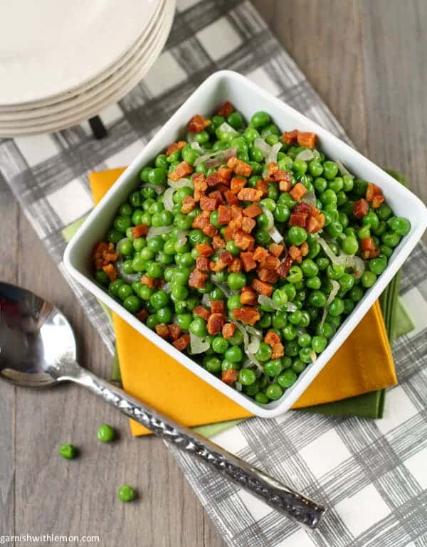 Peas with Pancetta and Shallots