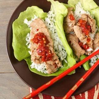 Stubb's Pork Tenderloin Lettuce Wraps