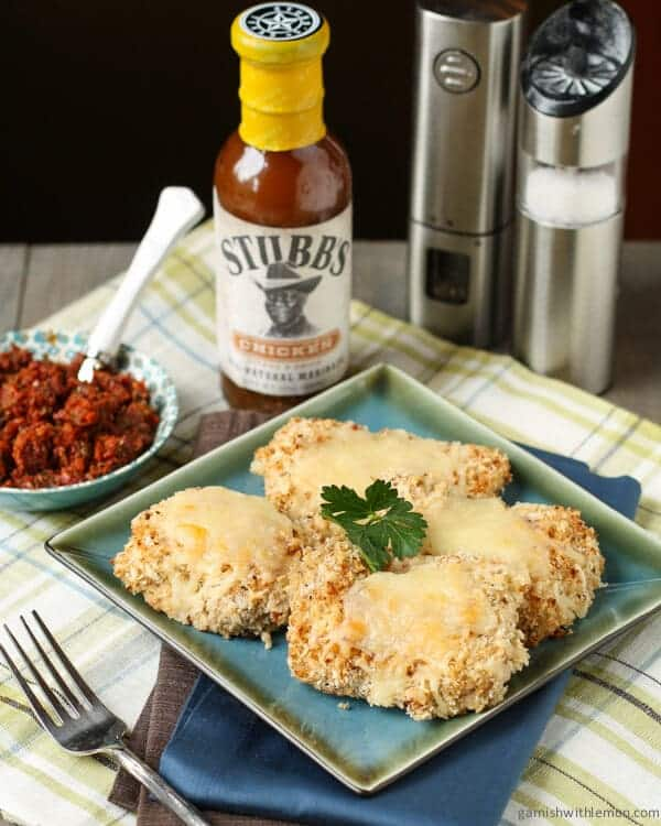 Parmesan Panko Chicken is an easy weeknight meal. Marinate and serve with a sun-dried tomato and caper tapenade.