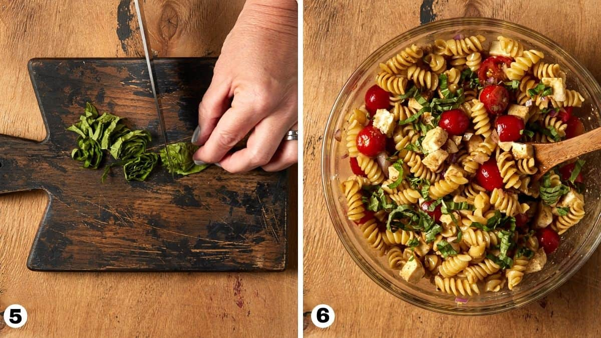 steps 5 and 6 for pasta salad.