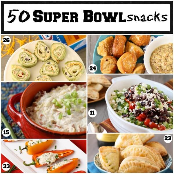 50 Super Bowl Snacks from Garnish with Lemon