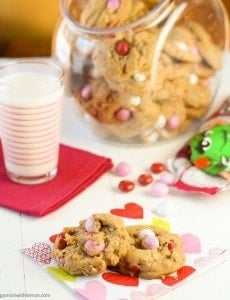 Chewy Oatmeal M & M Cookies (1 of 2)