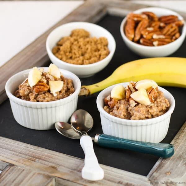 Overnight Crock Pot Banana Bread Oatmeal