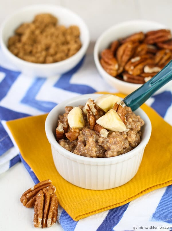 Overnight Crock Pot Banana Bread Oatmeal