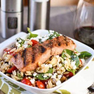 Salmon with Spinach & Tomato Orzo (1 of 2)