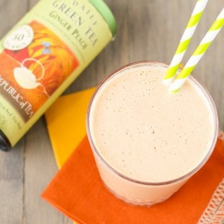 Ginger Peach Green Tea Smoothie (1 of 2)