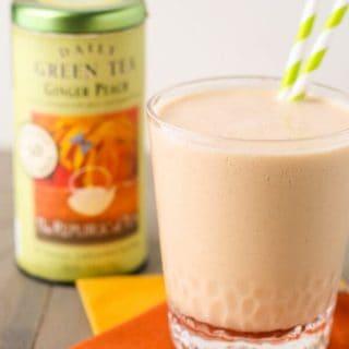 Ginger Peach Green Tea Smoothie