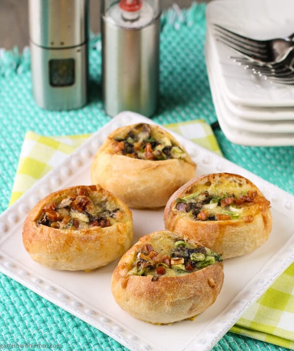 Egg Boats with Gruyere and Pancetta
