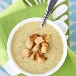 Roasted Potato and Leek Soup with Homemade Croutons (1 of 2)