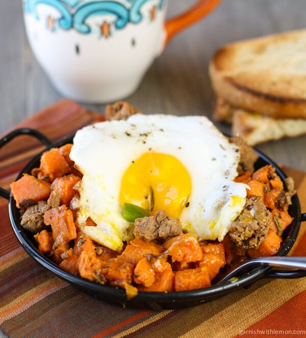 Sweet Potato Hash with Chorizo