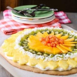 Tropical Fruit Pizza with Coconut Cream Cheese Frosting (1 of 2)