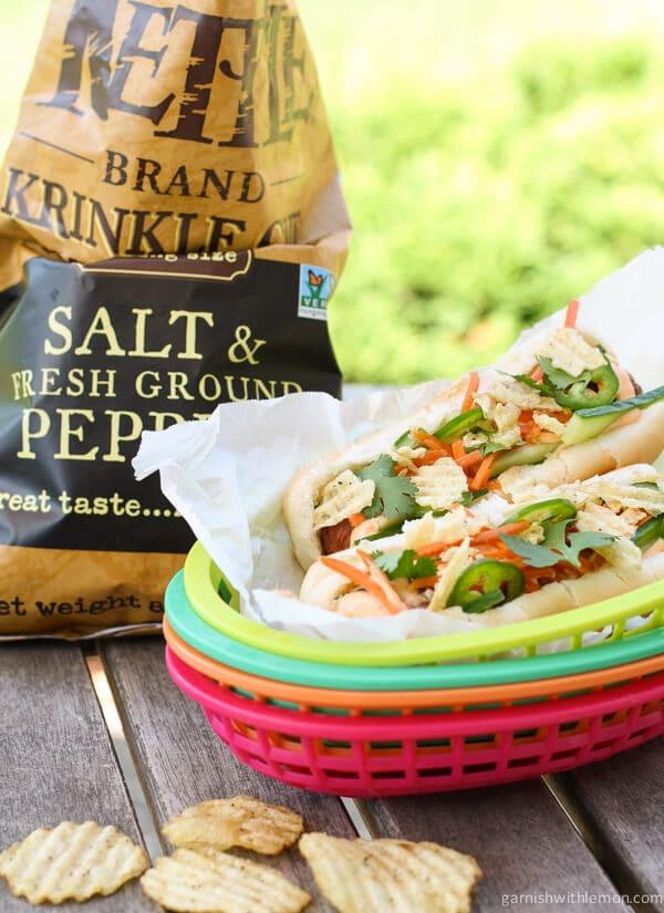 Banh Mi Hot Dogs - Garnish with Lemon