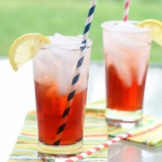 Cranberry Tea Spritzers