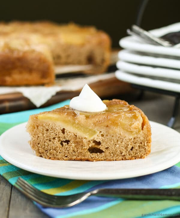 Maple Apple Upside Down Cake