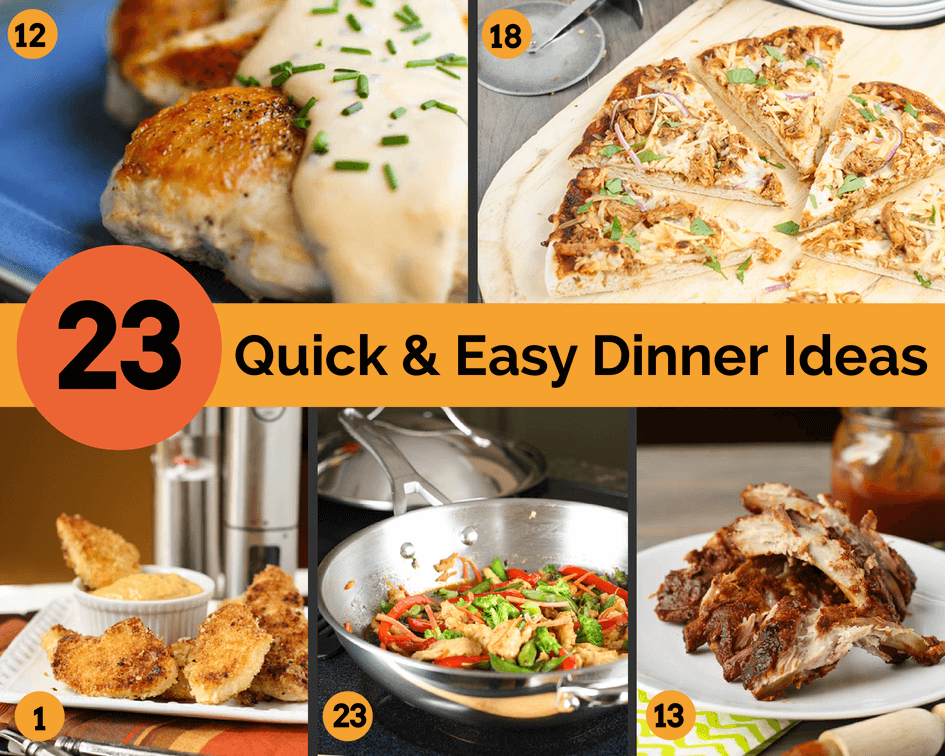 23 Quick & Easy Dinner Ideas | Garnish with Lemon