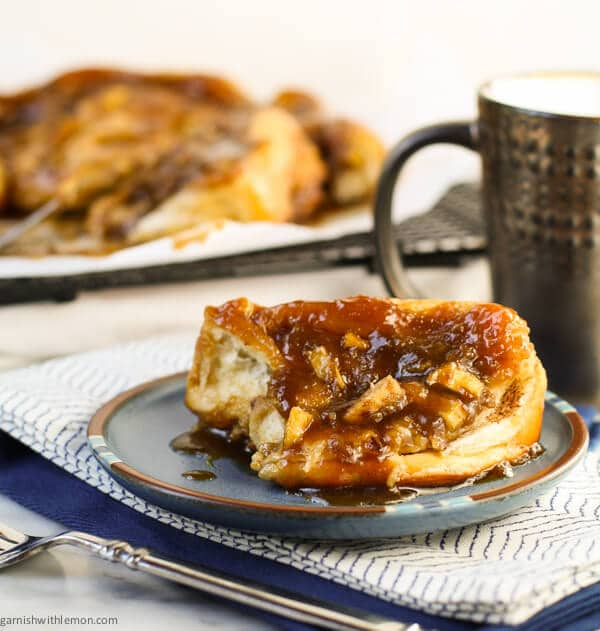 Ooey and gooey, Easy Caramel Apple Rolls are the perfect treat for brunch!