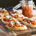 Feta Crostini with Savory Tomato, Bacon & Apple Jam (1 of 2)