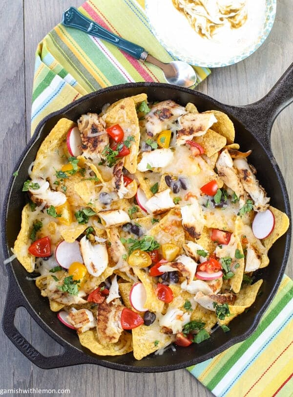Enjoy the flavors of the Southwest with these quick and easy Green Chile Fish Nachos!