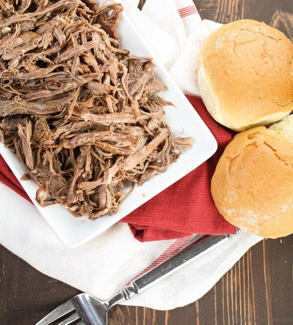 Easy Pulled Beef Sandwiches