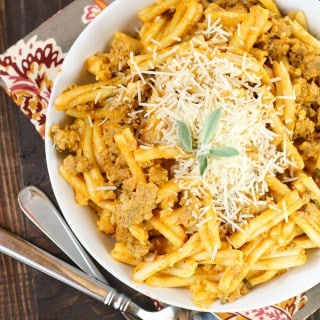 Sausage, Sage and Pumpkin Pasta